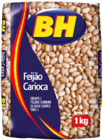 Feijão Carioca BH – Tipo 1 – Pcte. 1Kg – cada