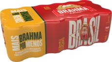 Cerveja Brahma – Pack Lt. 350ml c/ 18 Unid.
