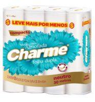 Papel Higiênico Charme – Folha Dupla – 30m c/ 12 Unid.
