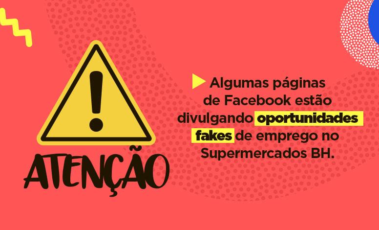 Perfis fakes anunciam vagas de emprego em nome do Supermercados BH