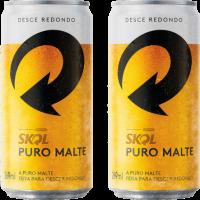 Cerveja Skol Puro Malte – Pack c/ 15 Unidades – Lt. 269ml